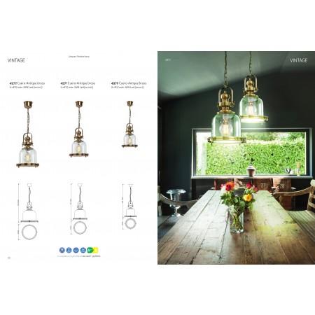пендел 4972 Lamp 1L BIG 1xE27 60W Antique Brass