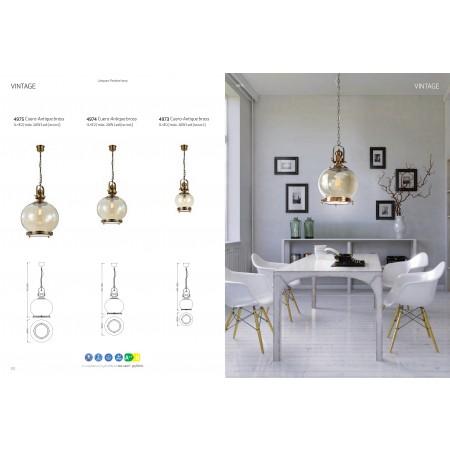 пендел 4975 Round Lamp 1L BIG 1xE27 60W Antique Brass