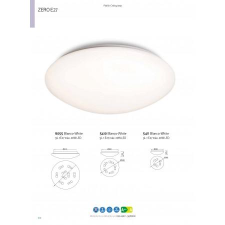 плафон 5411 CEILING LAMP E27 WHITE 3xE27 max 20W